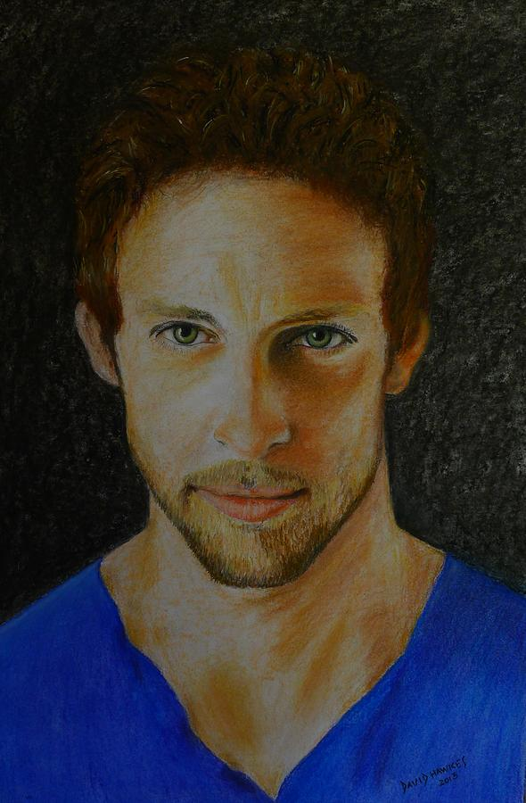 F1 Painting - F1 Jenson Button by David Hawkes