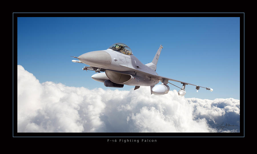 Military Aviation Photograph - F16 Fighting Falcon by Larry McManus
