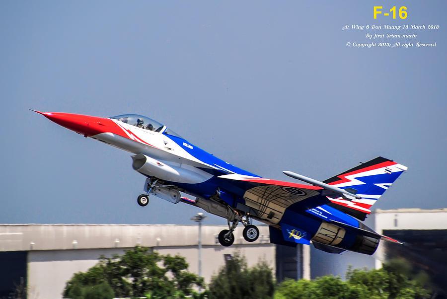 F16 Take Off Photograph by Jirat Sriammarin
