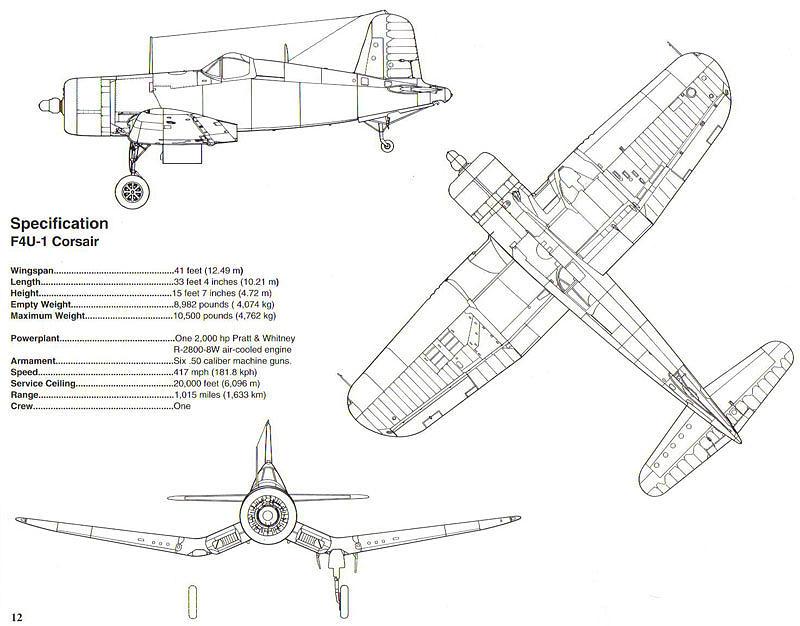 F4u Corsair Schematic Diagram Photograph By John King