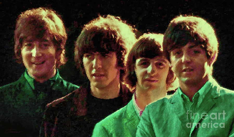 The Beatles Painting - Fab Four by John Travisano