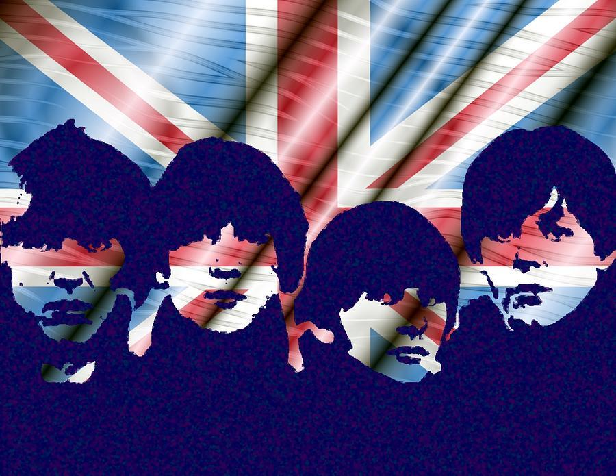 Beatles Digital Art - Fab by John Madison