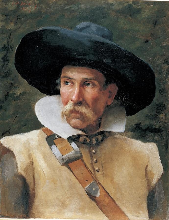 Swordsman Photograph - Fabbri Paolo Egisto, Portrait Of A Man by Everett