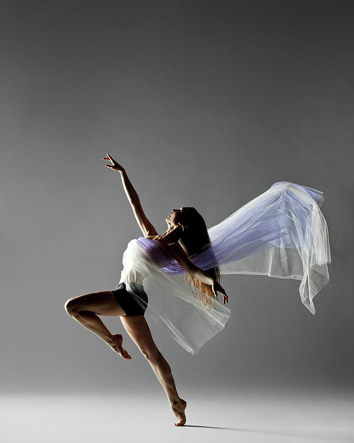 Fabric Dance Photograph by Copyright Christopher Peddecord 2009