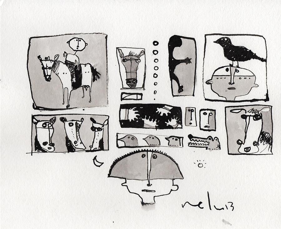Narrative Drawing - Fabula No. 1  by Mark M  Mellon