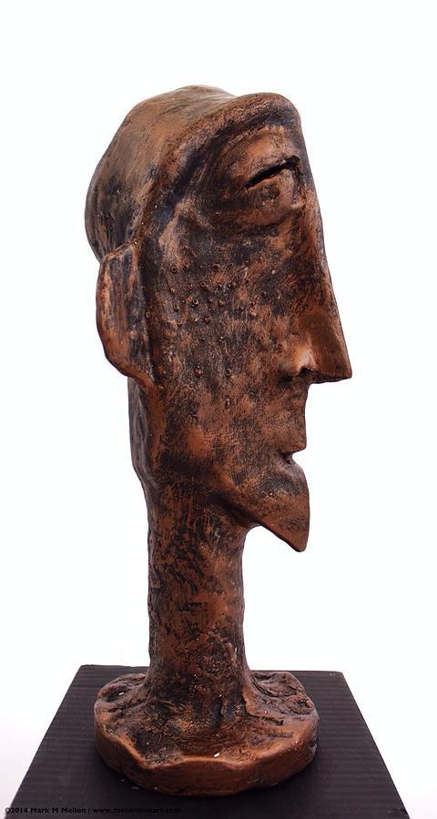 Bust Sculpture - Fabulas Bronze Idol  by Mark M  Mellon