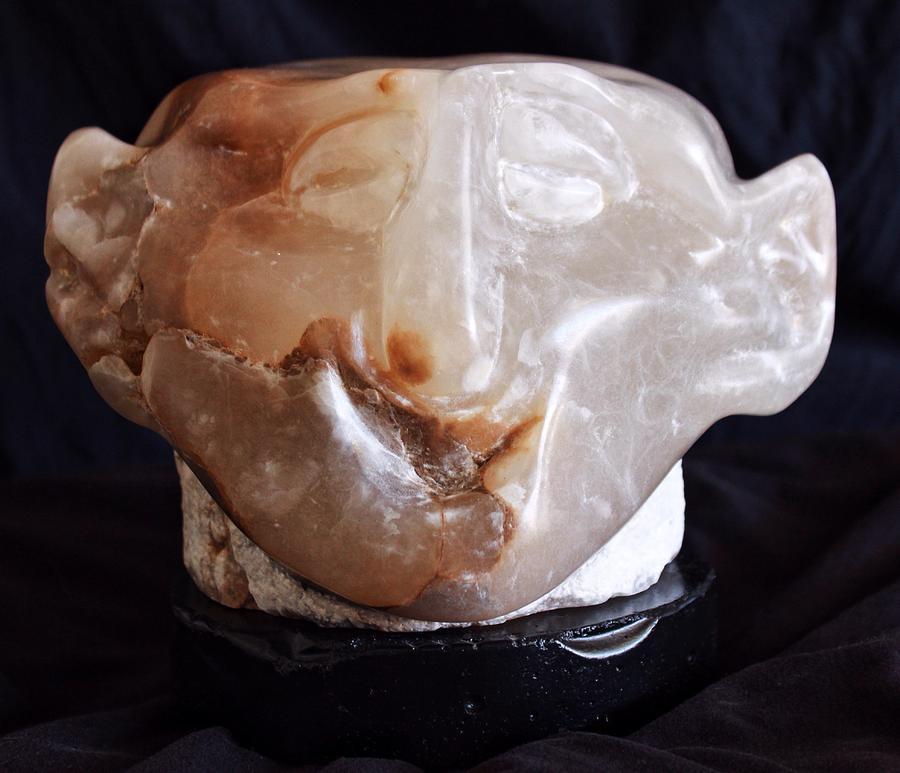 Face Sculpture - Fabulas Comus by Mark M  Mellon