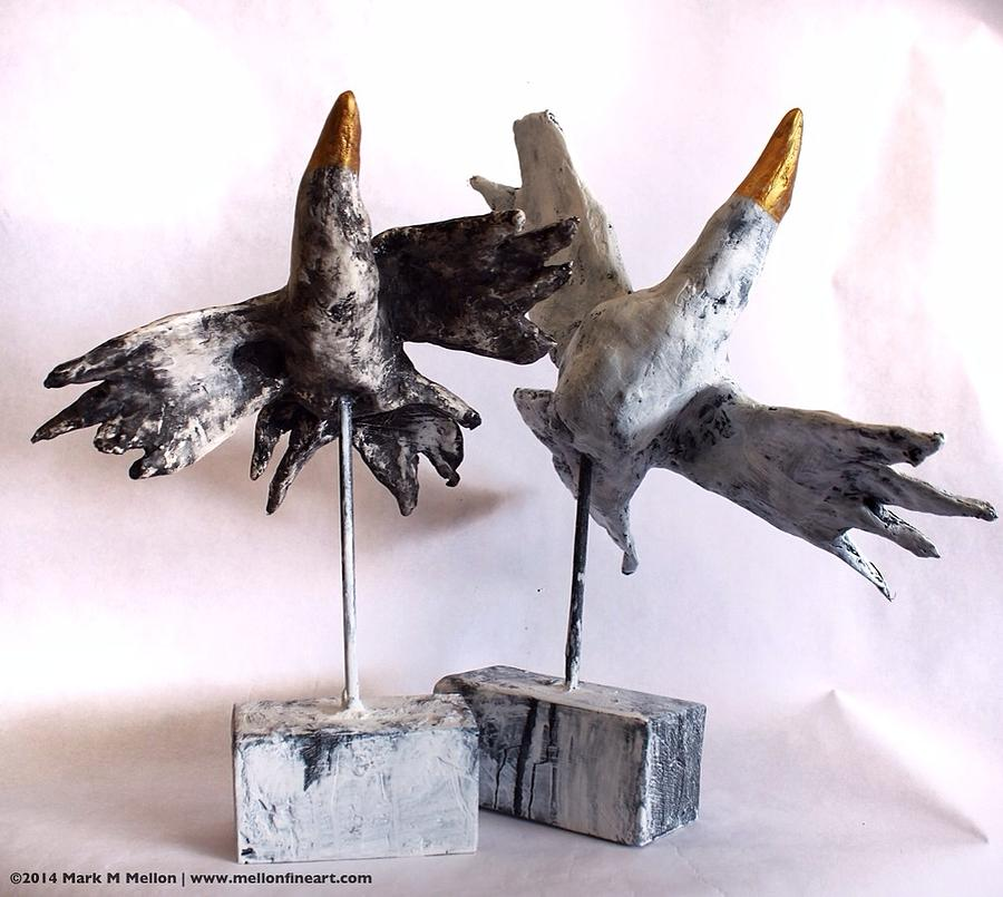 Birds Mixed Media - Fabulas Free Birds by Mark M  Mellon