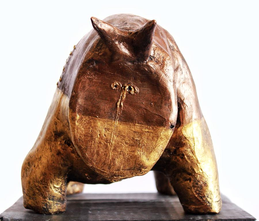 Bull Sculpture - Fabulas Gold And Bronze Taurus  by Mark M  Mellon
