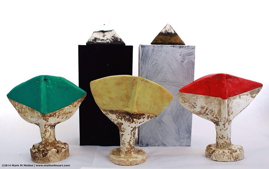 Figurative Sculpture - Fabulas Humanum Collectors Set by Mark M  Mellon