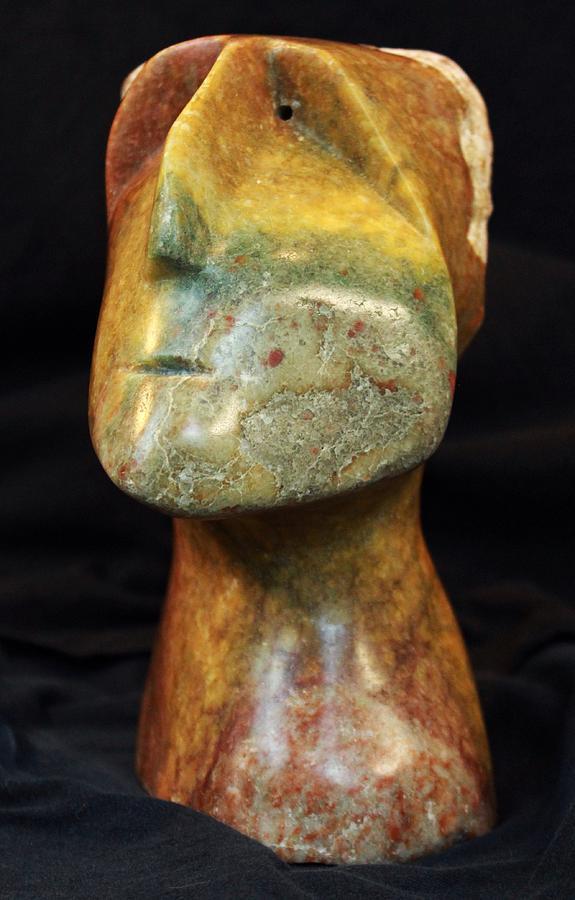Stone Sculpture - Fabulas The Thinker  by Mark M  Mellon