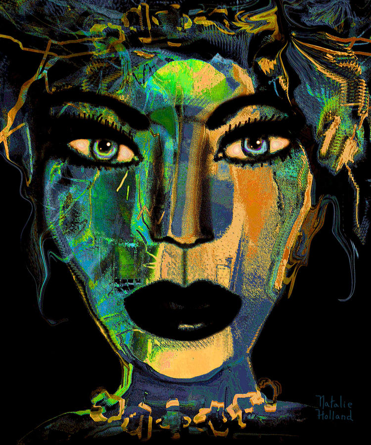 Face Mixed Media - Face 16 by Natalie Holland