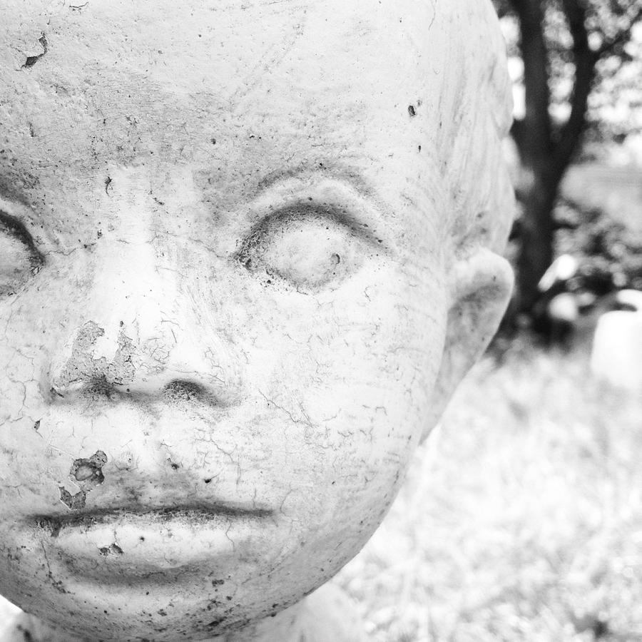 Statue Photograph - Face by Christy Beckwith