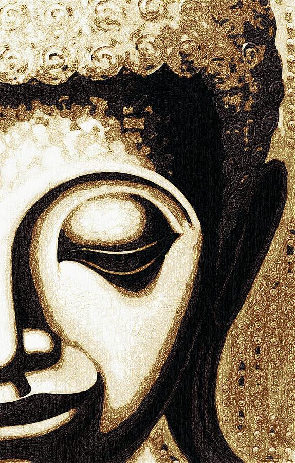 Face Color Lino Digital Art By David Lange