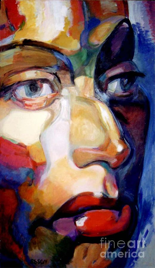 Woman Painting - Face Of A Woman by Stan Esson