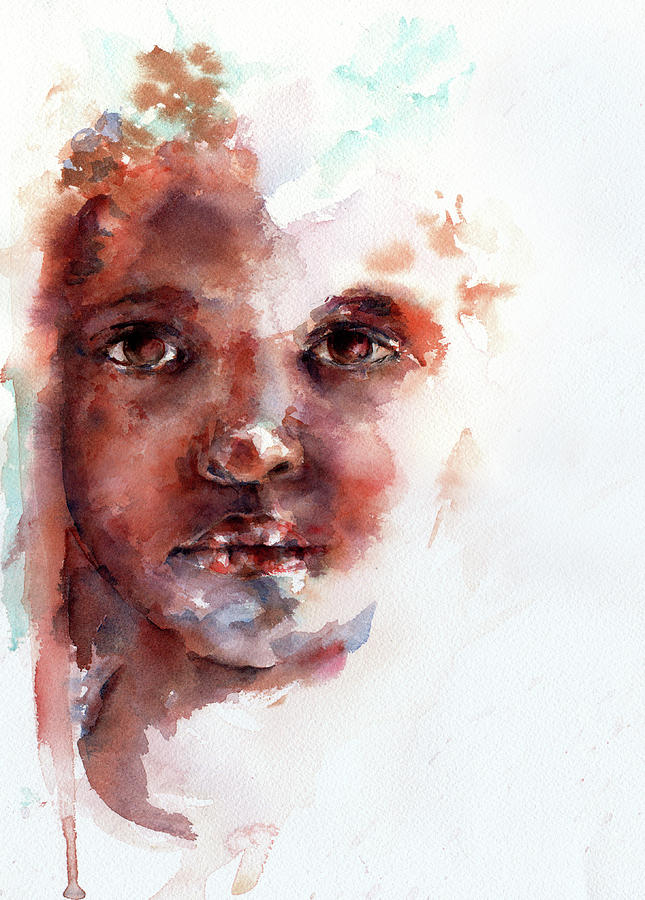 Girl Painting - Face Of Africa by Stephie Butler
