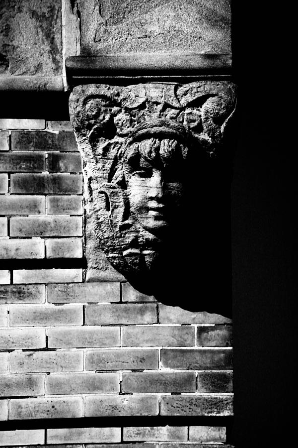 Building Photograph - Face Of Stone by Karol Livote