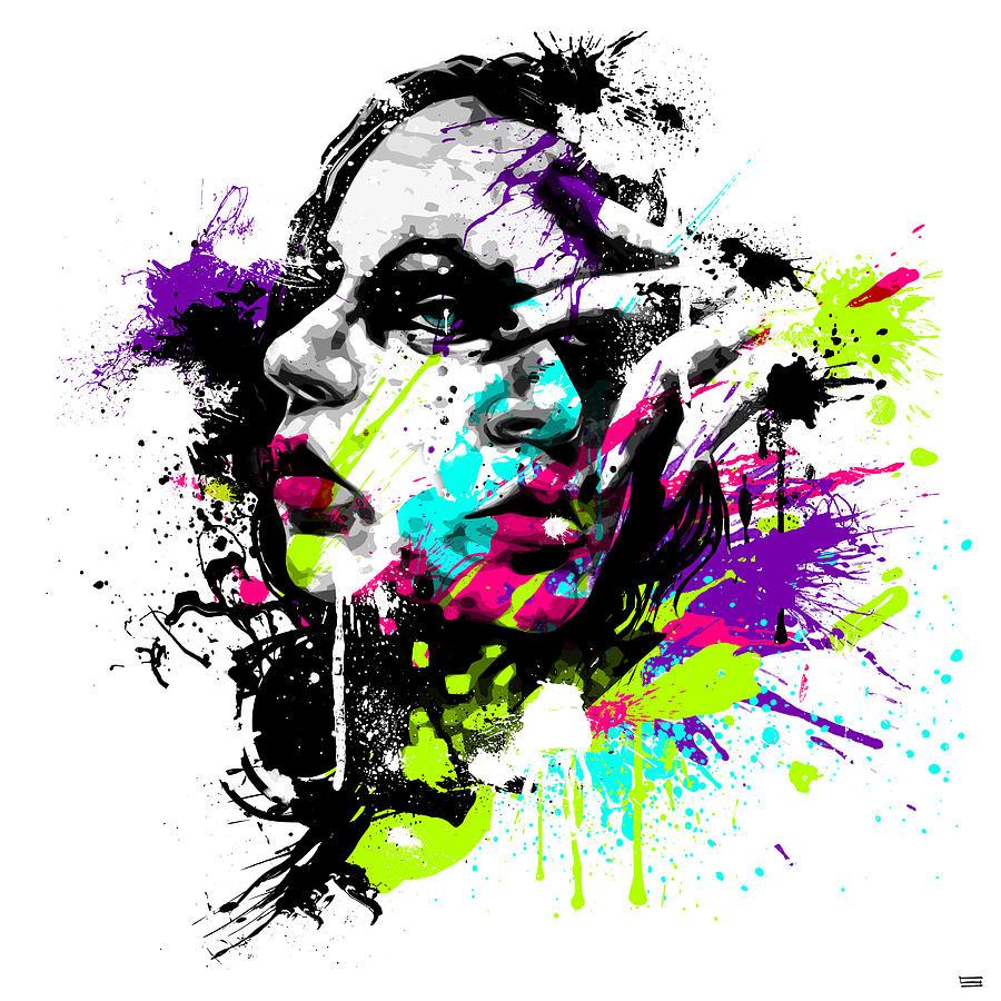 Female Digital Art - Face Paint 1 by Jeremy Scott
