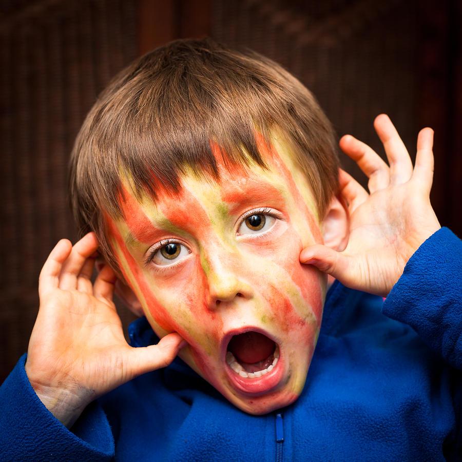 Adorable Photograph - Face Paint by Tom Gowanlock