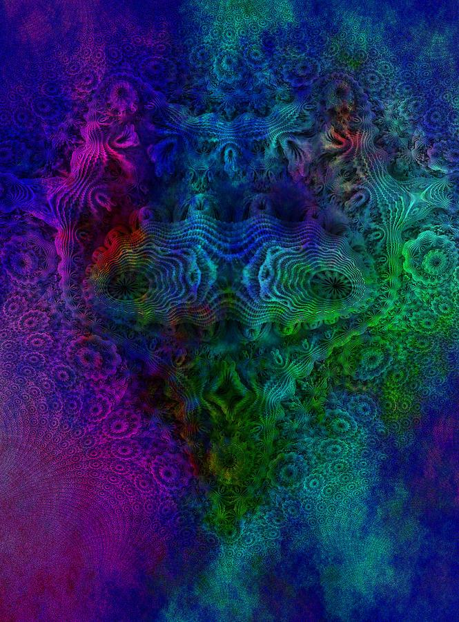 Face Mandelbulb fractal Digital Art by Digital Feng Shui