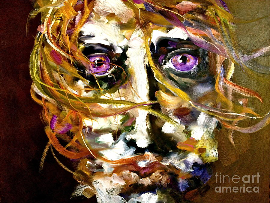 Sublime Painting - Face Series 4 Knowing by Michelle Dommer