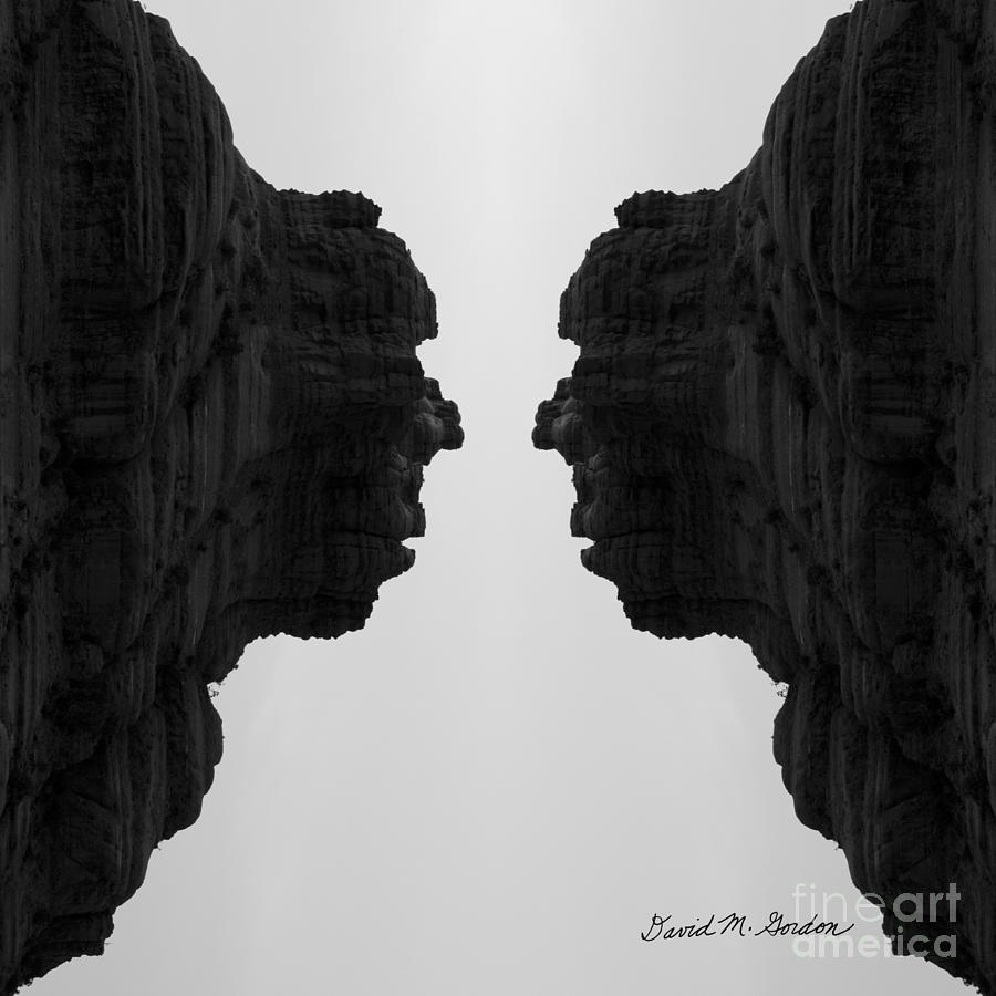 Black Photograph - Face To Face Montage II by Dave Gordon