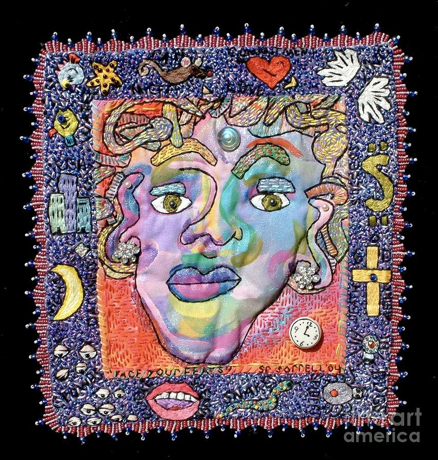 Fiber Tapestry - Textile - Face Your Fears by Susan Sorrell