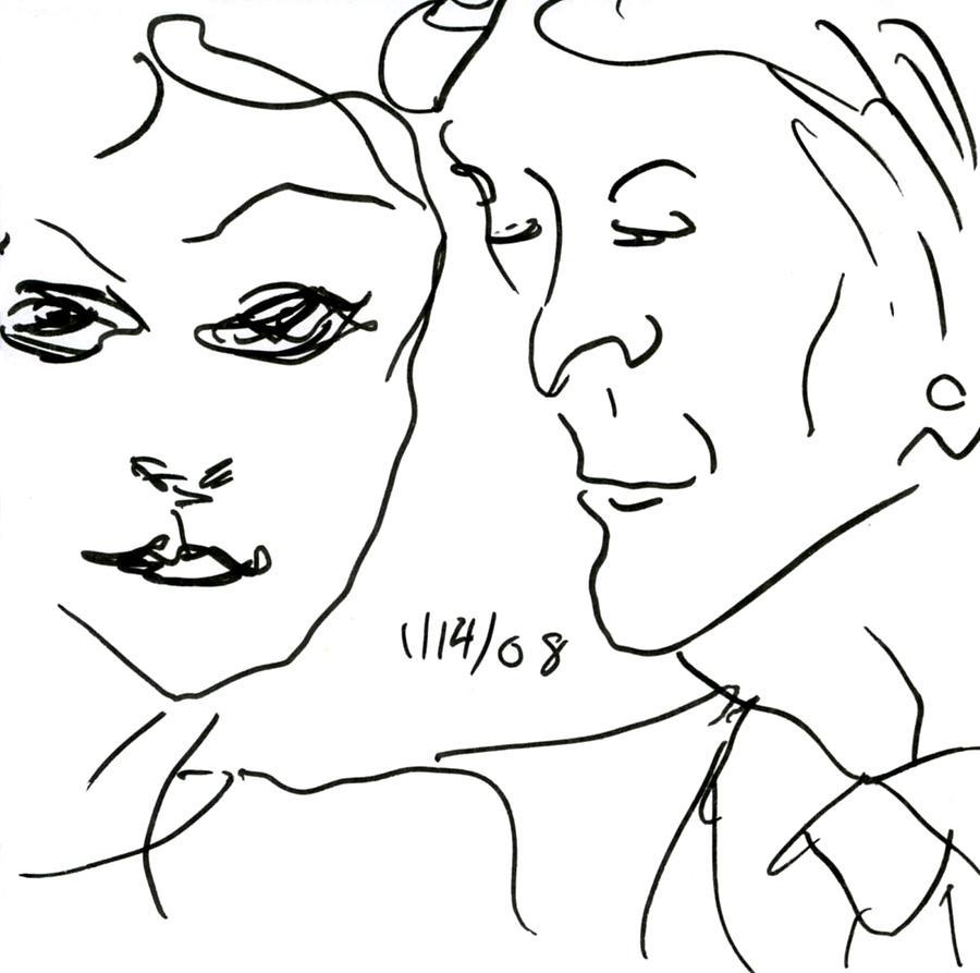 Faces Drawing - Faces II by Rachel Scott