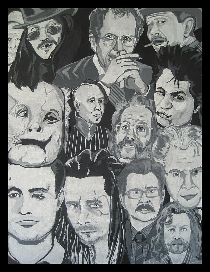 Oldman Painting - faces of Gary Oldman by Gary Niles