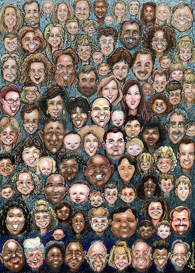 Faces Of Humanity Digital Art