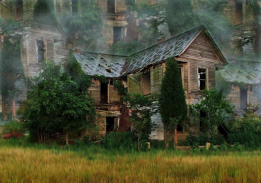Abandoned House Photograph - Faded Dreams by Julie Dant
