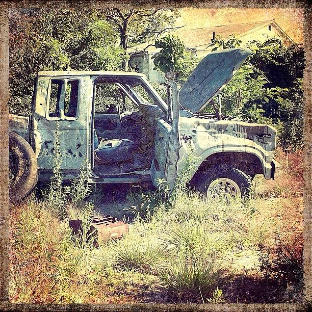 Broken Photograph - Faded Glory #abandoned #truck #broken by Jan Pan