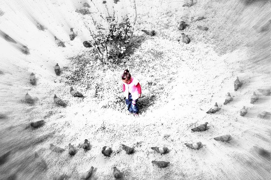 Child Photograph - Fading Universe by Roozbeh Roostaei