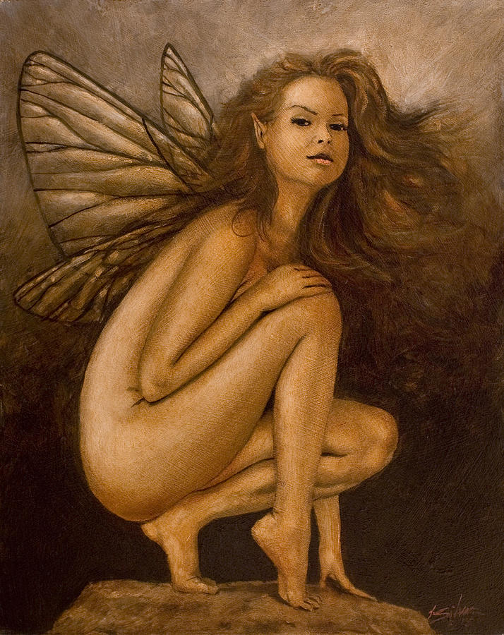 Paintings Painting - Faerie Portrait II by John Silver