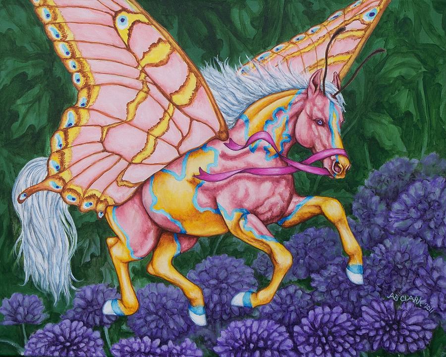 Horses Painting - Faery Horse Hope by Beth Clark-McDonal