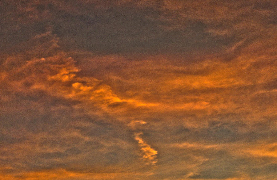 Sunset Photograph - Faint Clouds by Marquis Crumpton