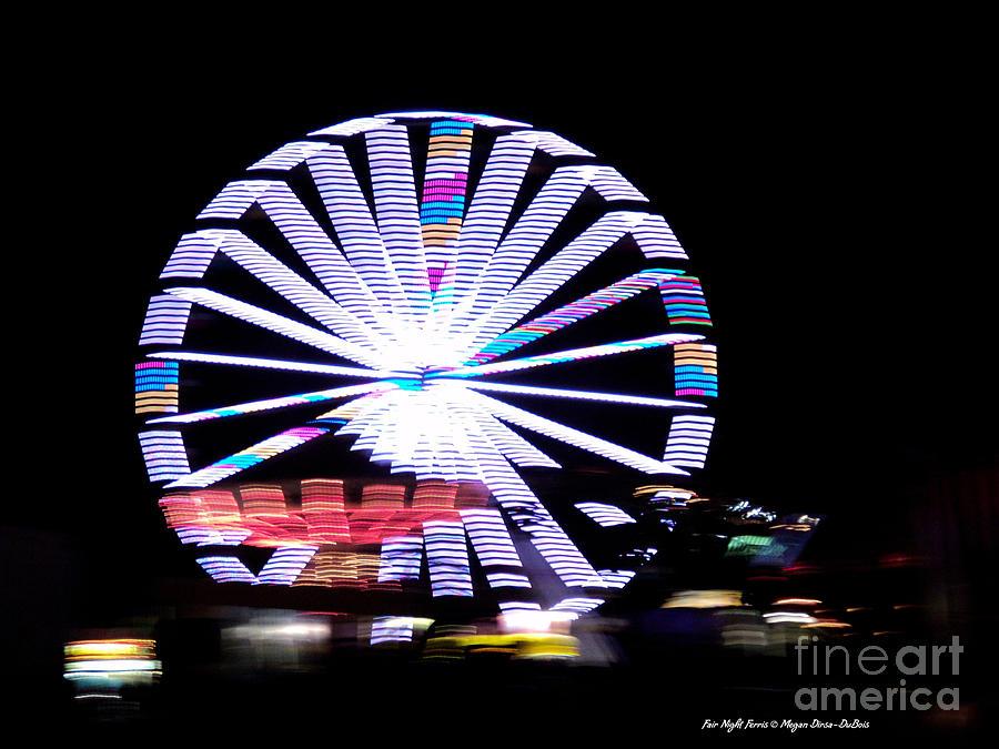 Colorful Photograph - Fair Night Ferris by Megan Dirsa-DuBois