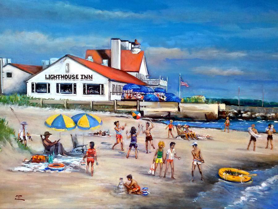 Fairchild Clan Cape Cod Beach Painting by Philip Corley