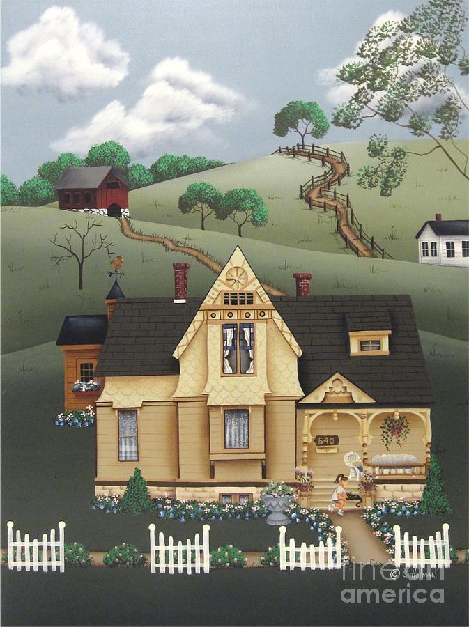 Print Painting - Fairhill Farm by Catherine Holman