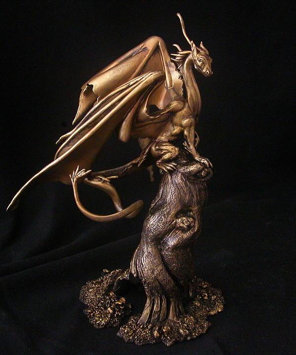 Fairy Dragon Sculpture - Fairy Dragon by Karl Sanders