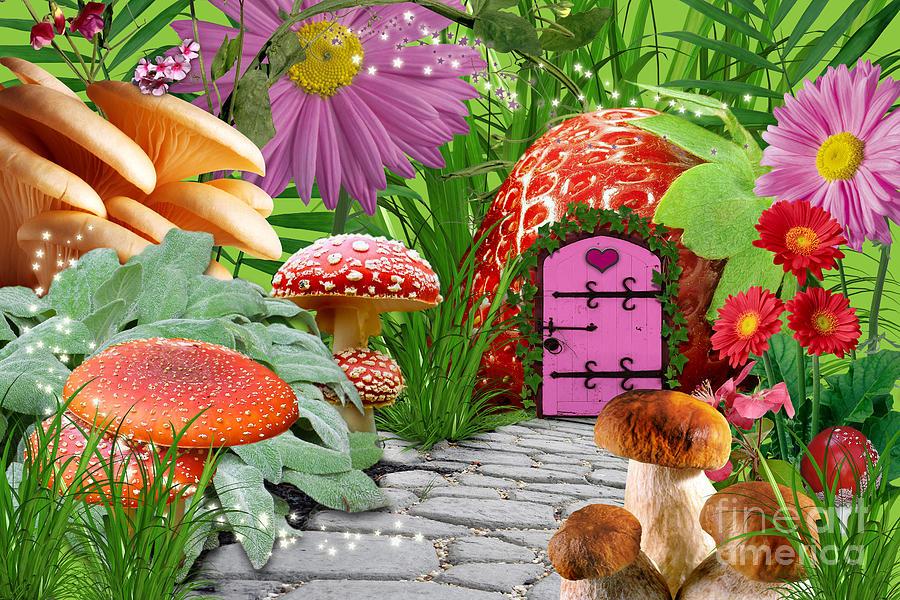 Fairy Garden Digital Art By Roxana Paul