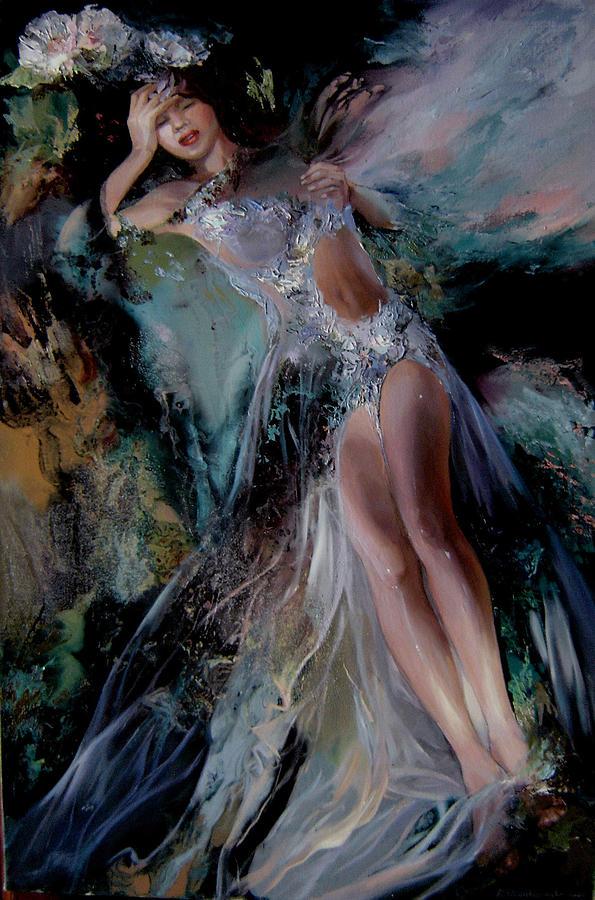 Fairy  Painting - Fairy by Nelya Shenklyarska