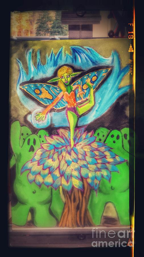 Fairy Folk Painting - Fairy Of Judgement by Sarah Reed