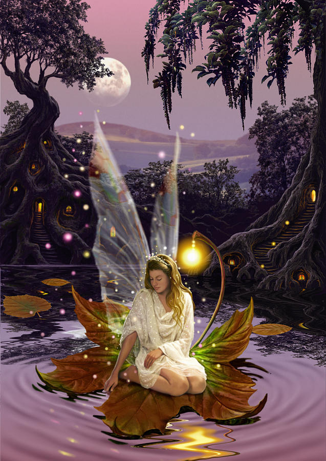 Fairies Photograph - Fairy Princess by MGL Meiklejohn Graphics Licensing