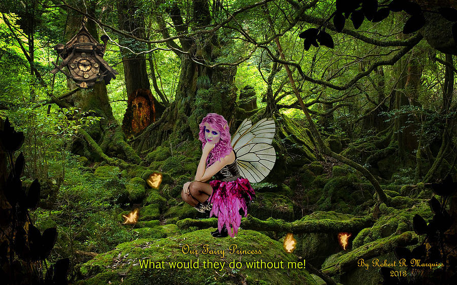 Princess Digital Art - Fairy Princess by Robert Marquiss