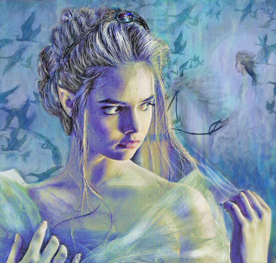 Fantasy Digital Art - Fairy Queen by Jane Schnetlage