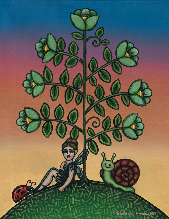 Fairy Painting - Fairy Series Tina by Victoria De Almeida