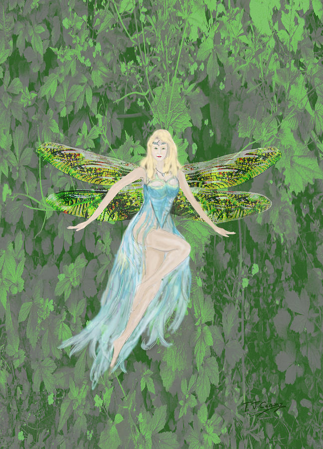 Fairy Digital Art - Fairy by Tom Conway
