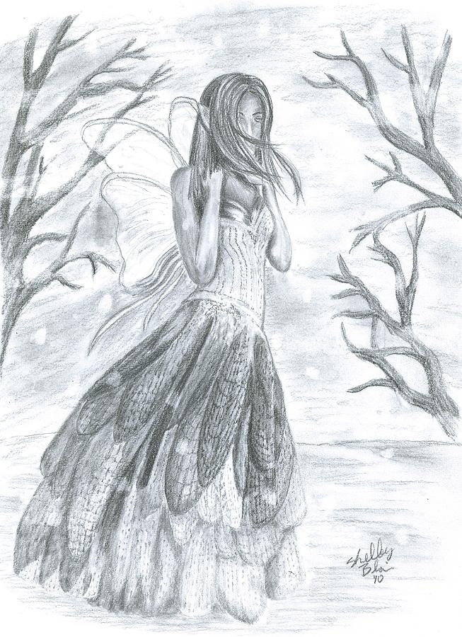 Fairytale Winter Drawing By Shelley Blair