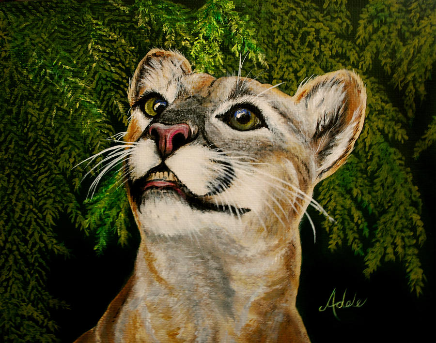 Panther Painting - Faith by Adele Moscaritolo